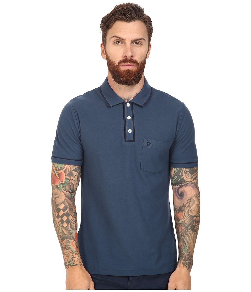 Original Penguin - Earl Polo (Blue Wing Teal) Men's Short Sleeve Pullover