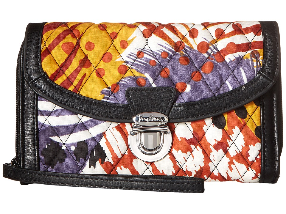 Vera Bradley - Ultimate Wristlet (Painted Feathers) Clutch Handbags