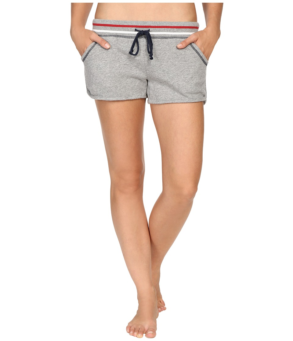 P.J. Salvage - Road Trip Flag Pocket Shorts (Heather Grey) Women's Pajama