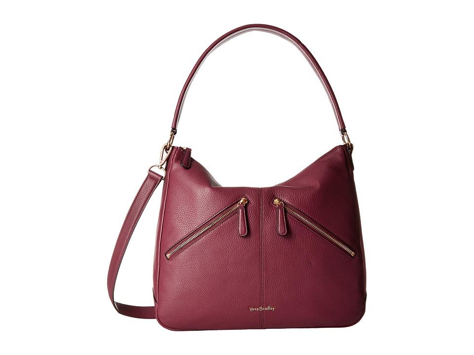 Vera Bradley - Vivian Hobo Bag (Claret) Hobo Handbags