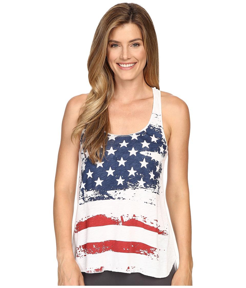 P.J. Salvage - Distressed Stars and Stripes Tank Top (Ivory) Women's Pajama
