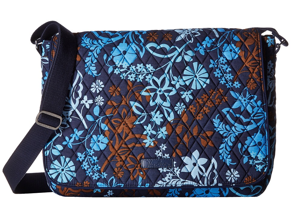 Vera Bradley - Laptop Messenger (Java Floral) Messenger Bags
