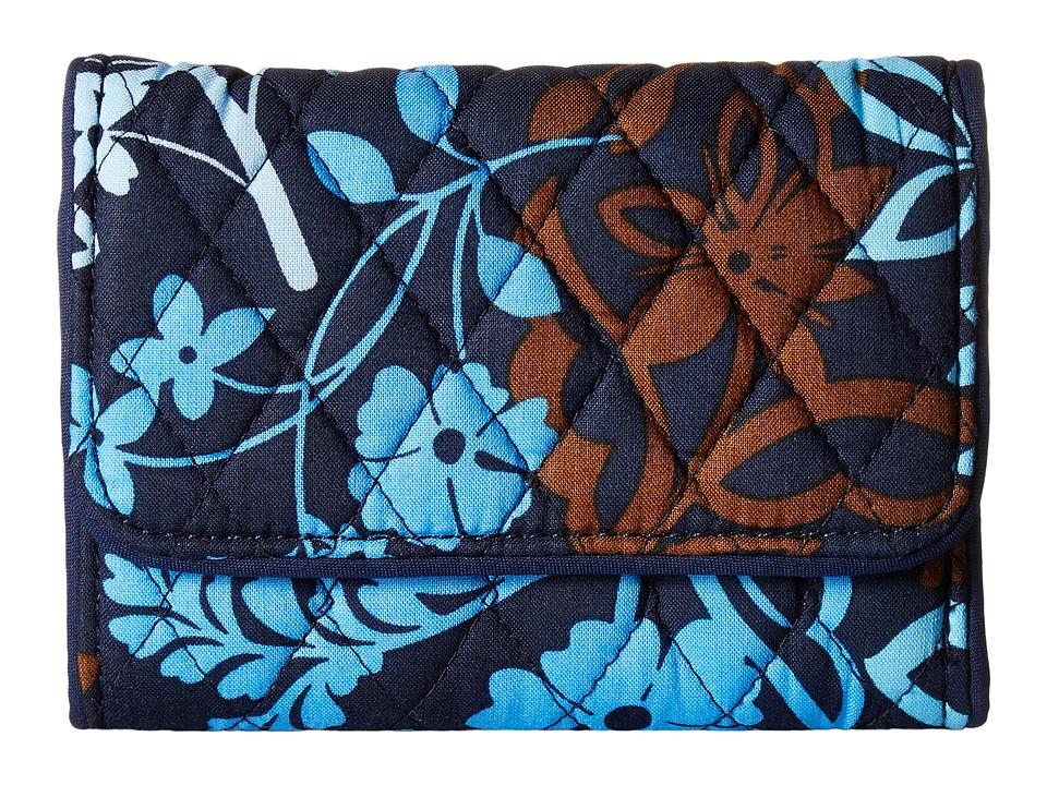 Vera Bradley - Riley Compact Wallet (Java Floral) Wallet Handbags