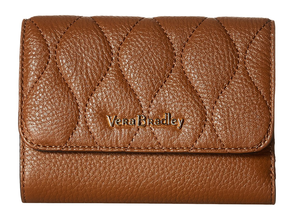 Vera Bradley - Riley Compact Wallet (Cognac) Wallet Handbags