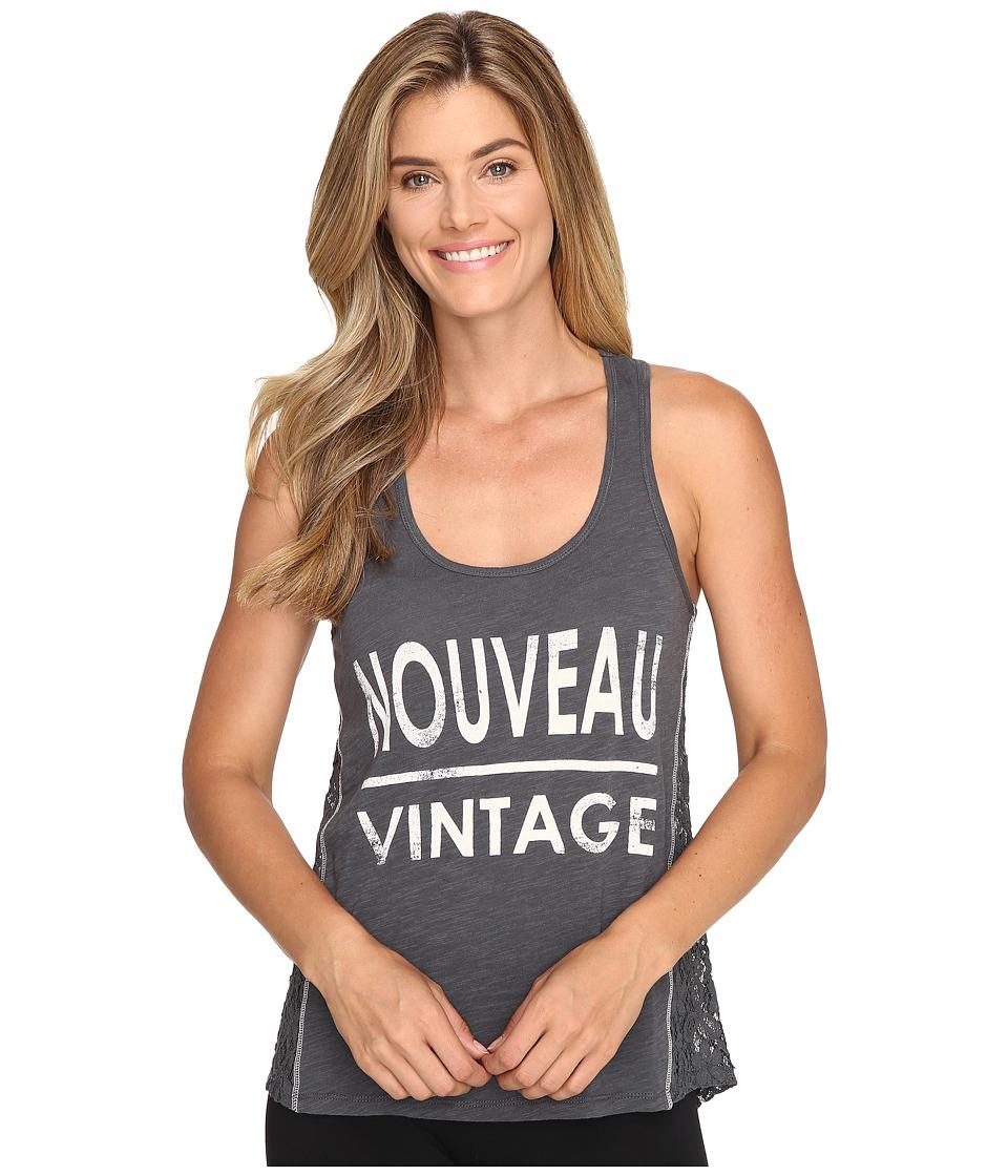 P.J. Salvage - Nouveau Vintage Graphic Tank Top (Charcoal) Women's Pajama