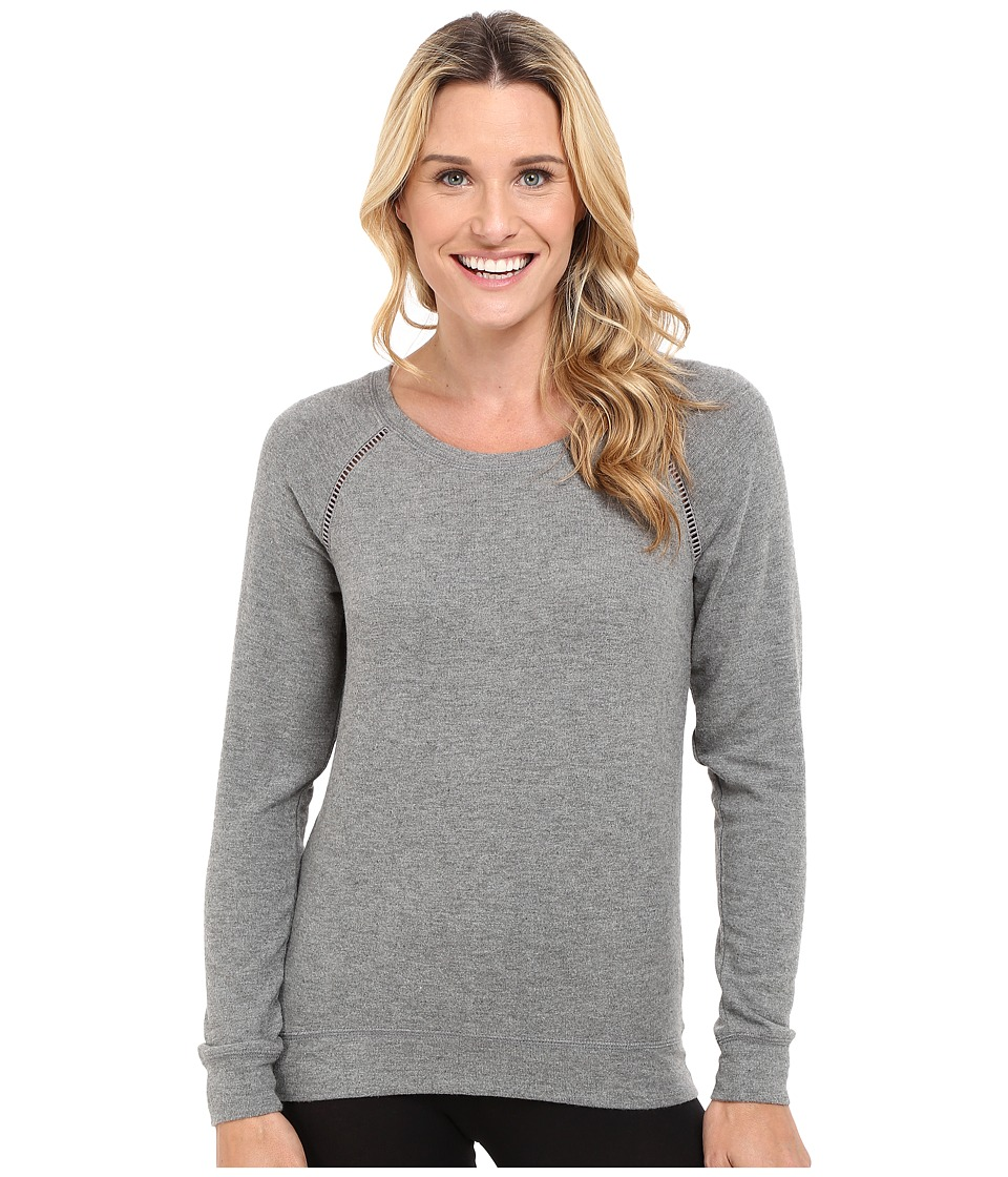 P.J. Salvage Heathered Cut Out Sweatshirt (Charcoal) Women