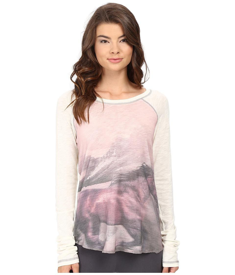 P.J. Salvage - Stallion Photo Print Shirt (Natural) Women's Pajama
