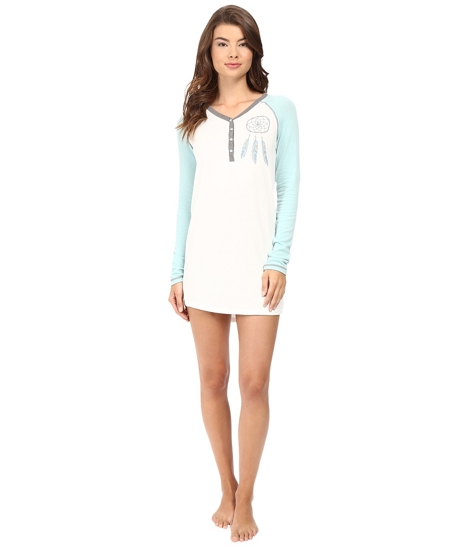 P.J. Salvage - Dreamcatcher Henley Sleep Shirt (Soft White) Women's Pajama