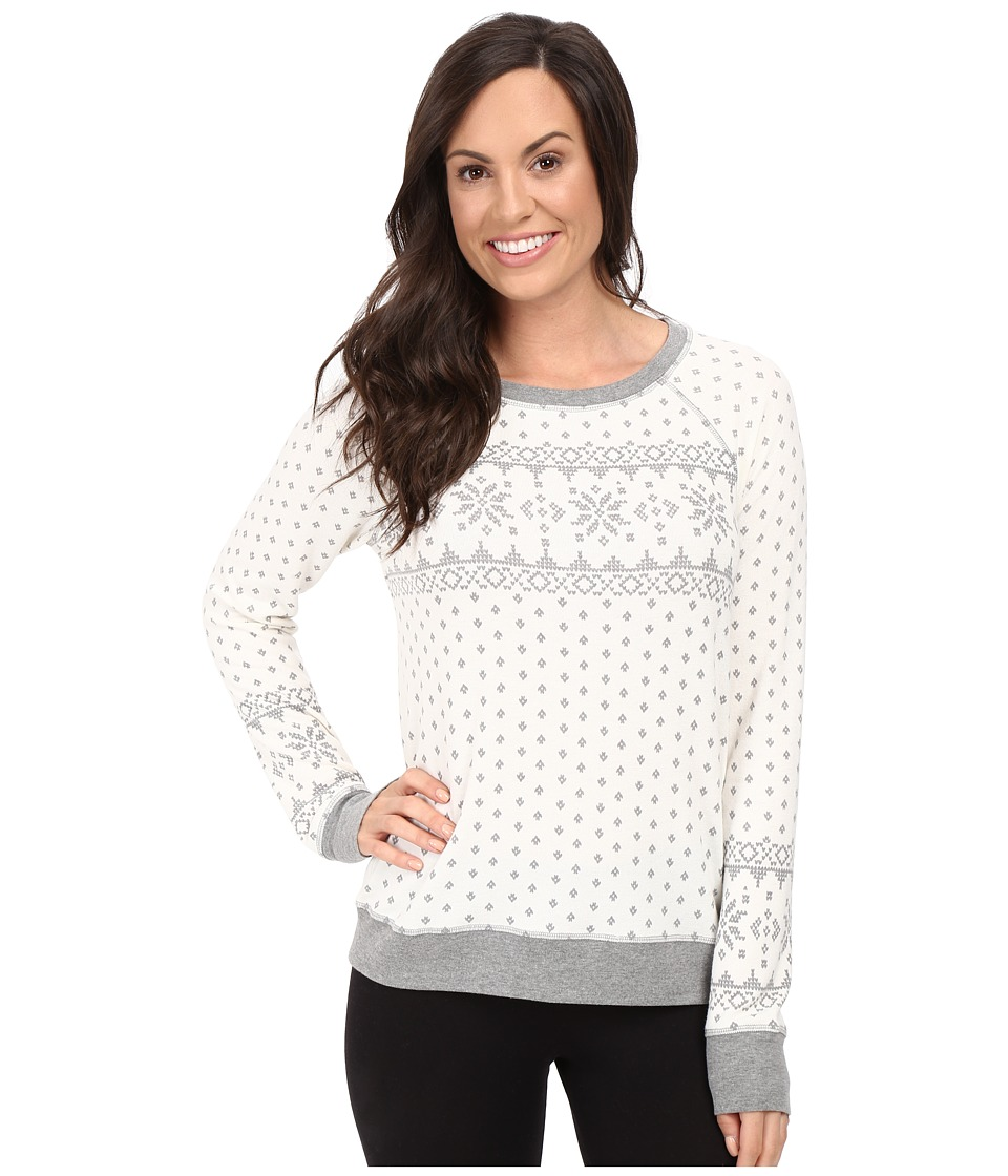 P.J. Salvage - Grey Fair Isle Sweatshirt (Natural) Women's Pajama