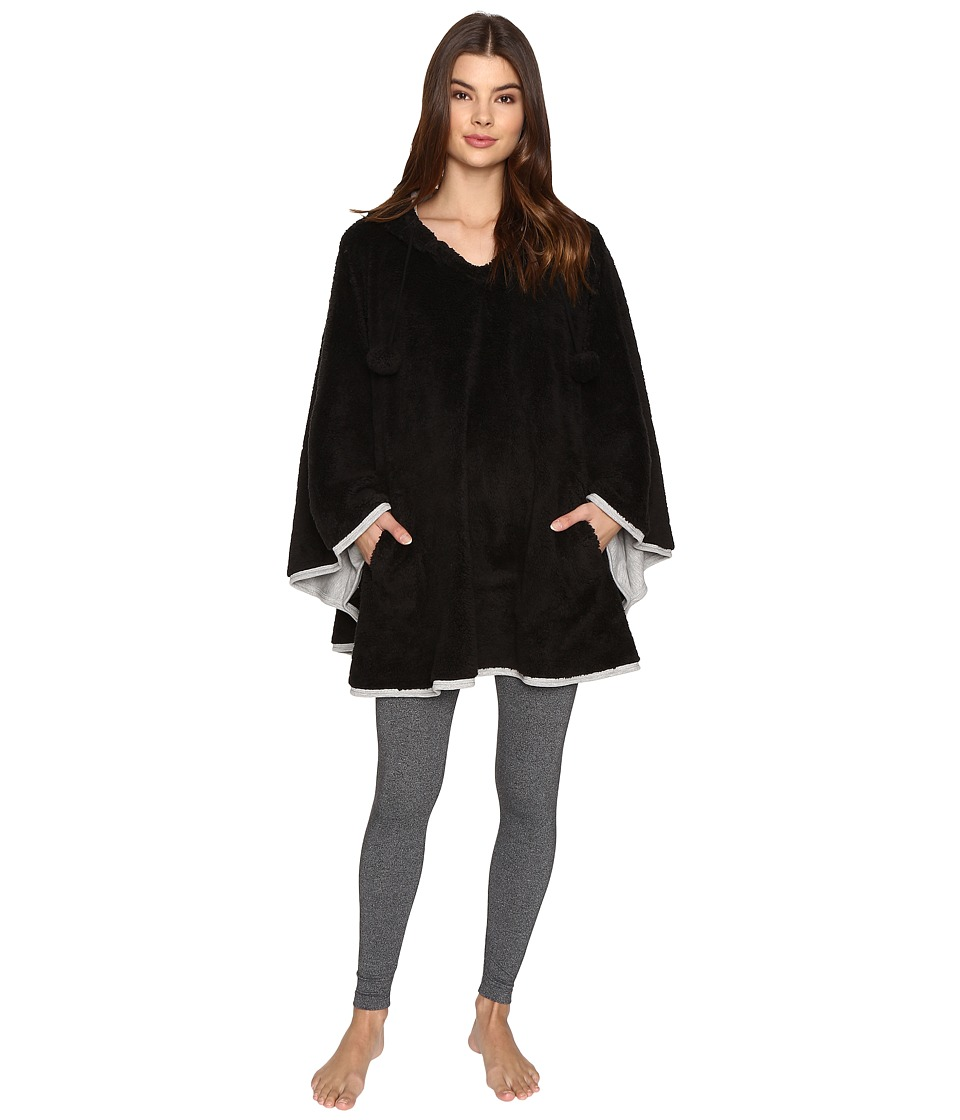 P.J. Salvage - Sherpa Chic Poncho (Black) Women's Pajama