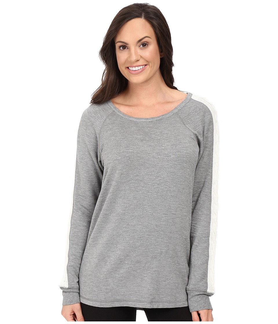 P.J. Salvage Cable Sweatshirt (Heather Grey) Women