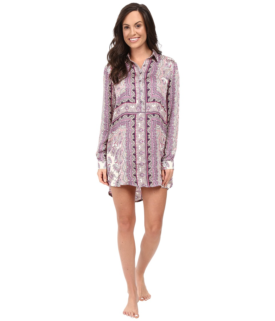P.J. Salvage - Bella Paisley Sleep Shirt (Grape) Women's Pajama