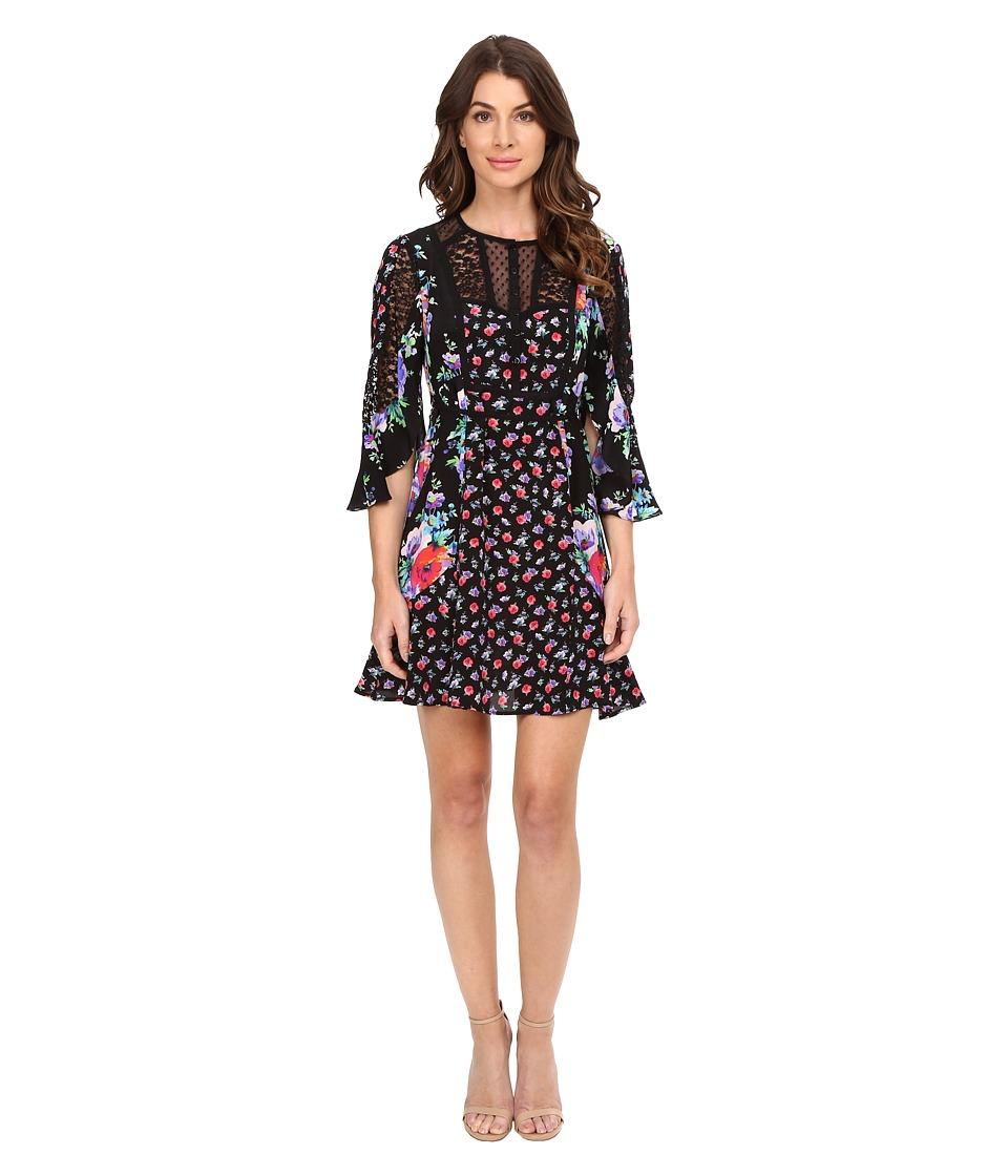 Nanette Lepore - Wildflower Dress (Black Multi) Women's Dress