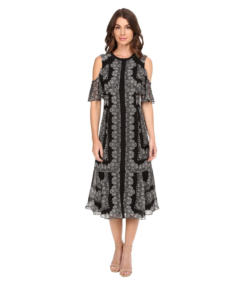 Nanette Lepore - Night Sky Frock (Black/White) Women's Clothing