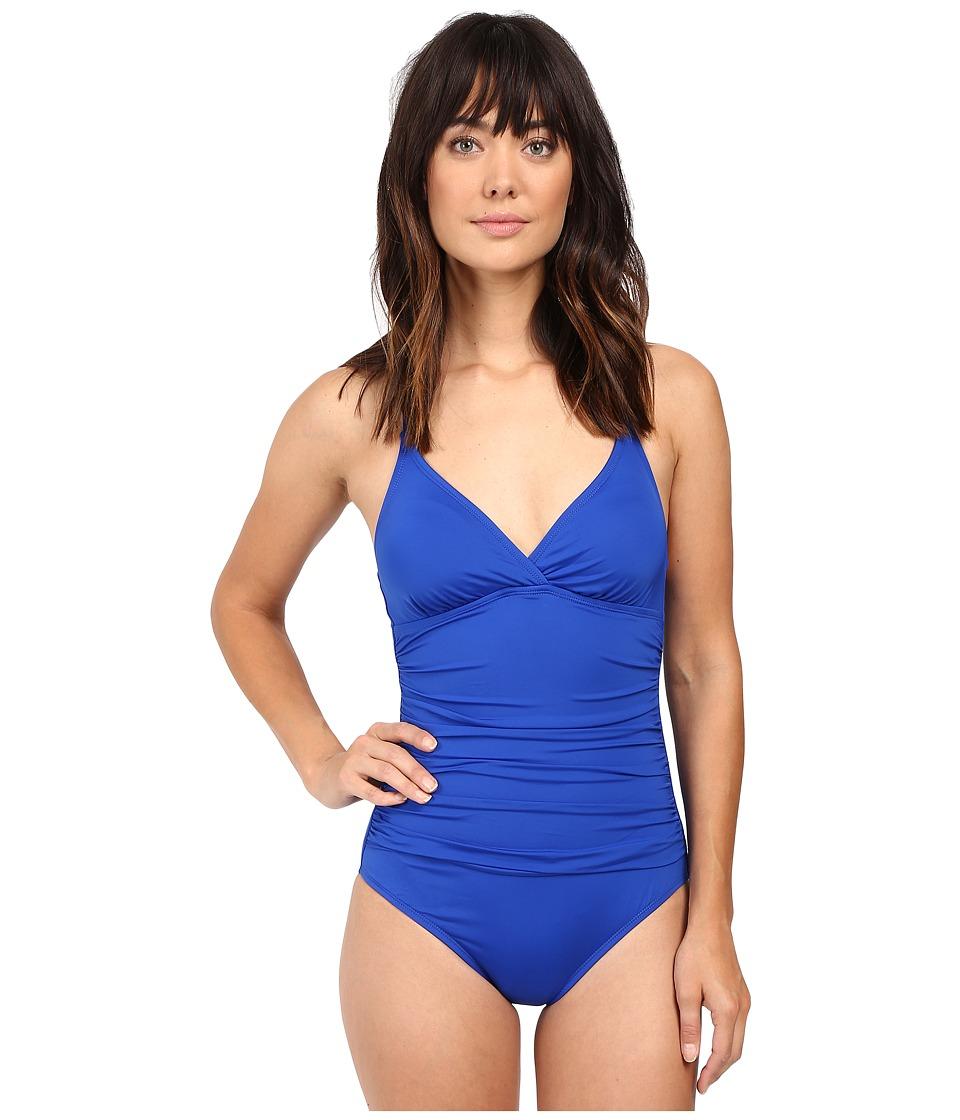 Jantzen - Solids Macrame One-Piece (Seaside Blue) Women's Swimsuits One Piece
