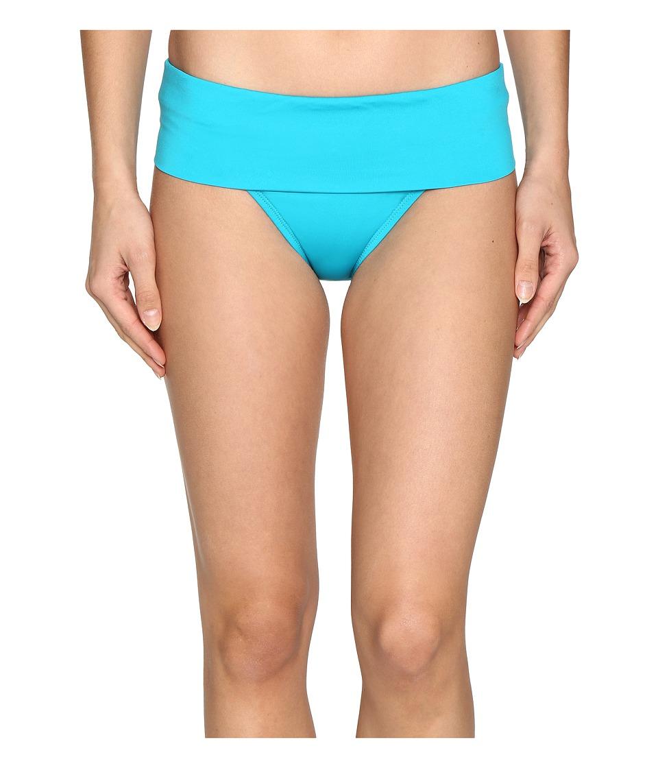 Jantzen Solids Shirred Waist Bottom (Turquoise) Women