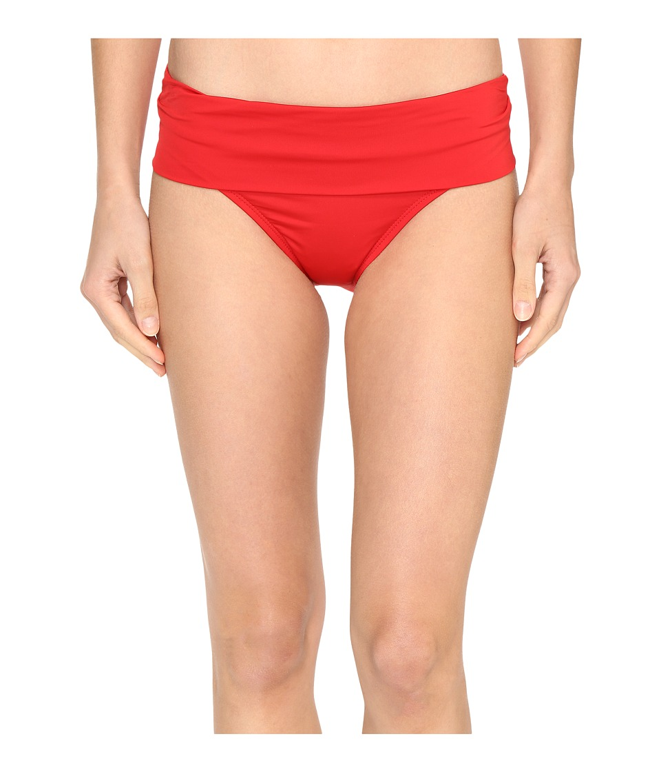 Jantzen - Solids Shirred Waist Bottom (Lipstick Red) Women's Swimwear