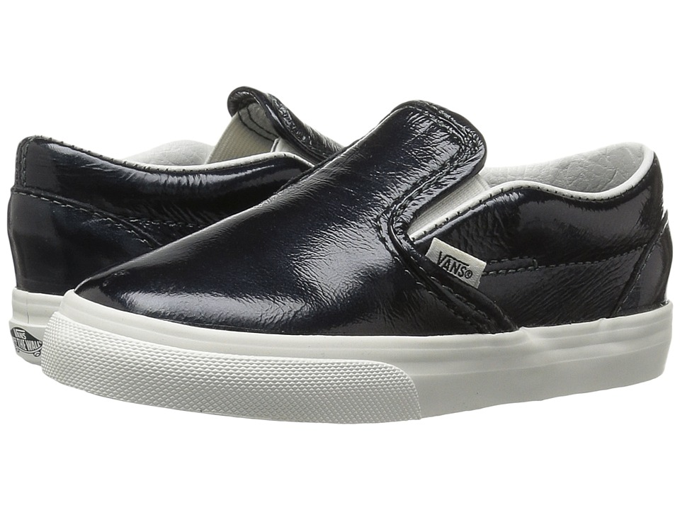 Vans Kids - Classic Slip-On (Toddler) ((Hologram) Green Gables/Black De Blanc) Girls Shoes