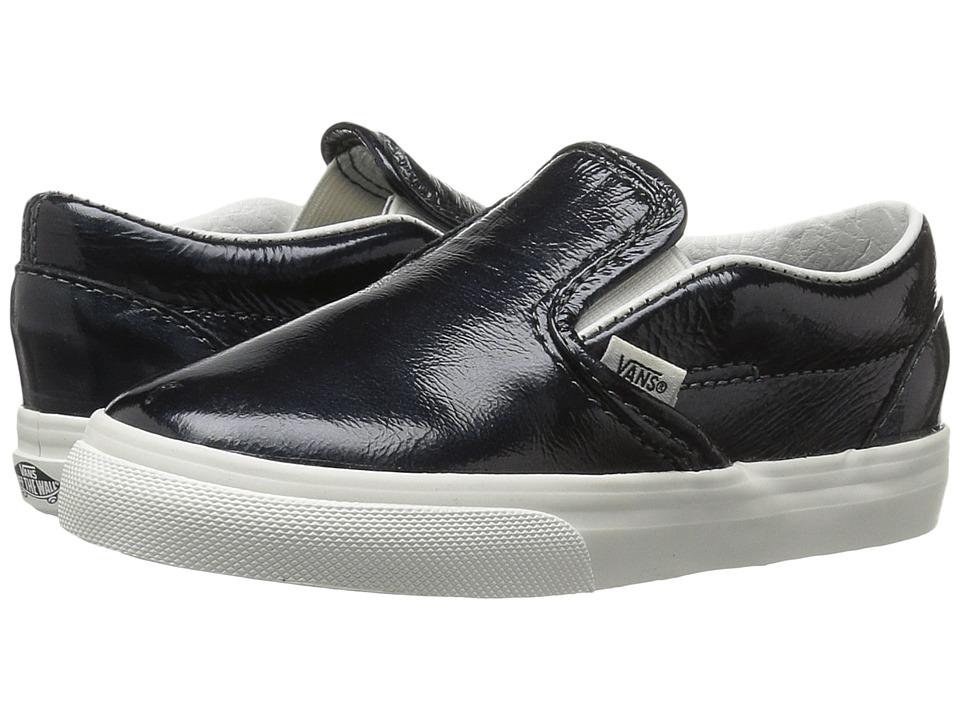 Vans Kids Classic Slip-On (Toddler) ((Hologram) Green Gables/Black De Blanc) Girls Shoes