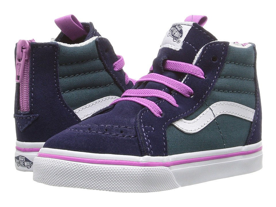Vans Kids - Sk8-Hi Zip (Toddler) ((Pop) Atlantic Deep/Rosebud) Girls Shoes