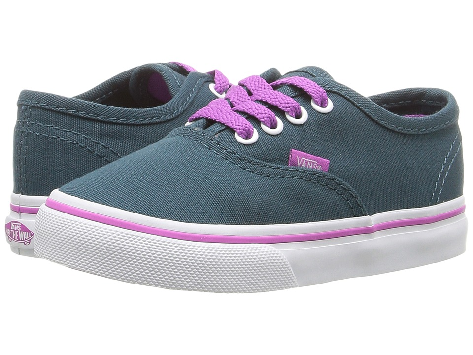 Vans Kids - Authentic (Toddler) ((Pop) Atlantic Deep/Rosebud) Girls Shoes