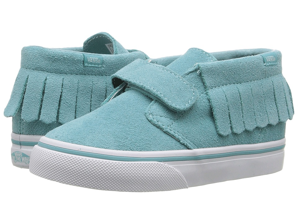 Vans Kids - Chukka V Moc (Toddler) ((Suede) Aqua Sea) Girls Shoes