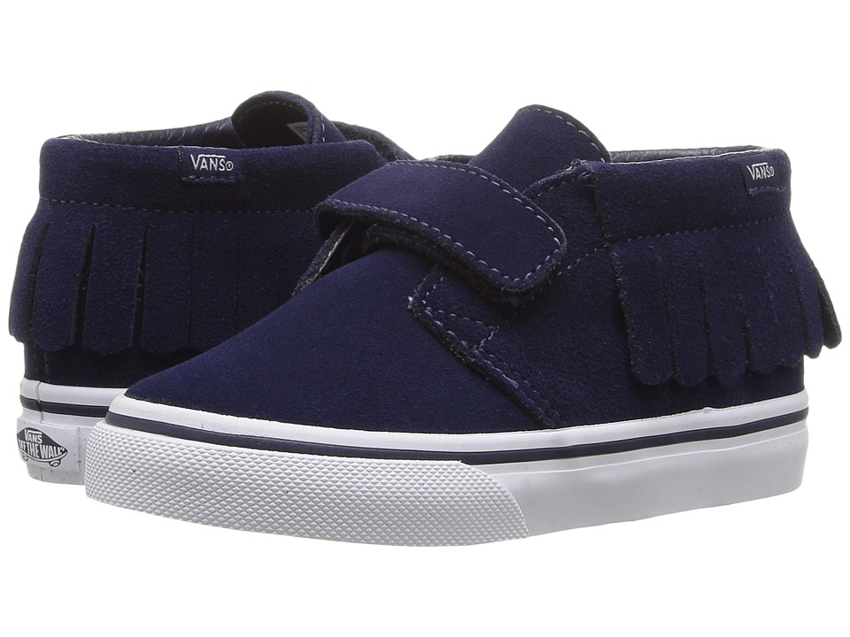 Vans Kids - Chukka V Moc (Toddler) ((Suede) Eclipse/Bel Air Blue) Girls Shoes