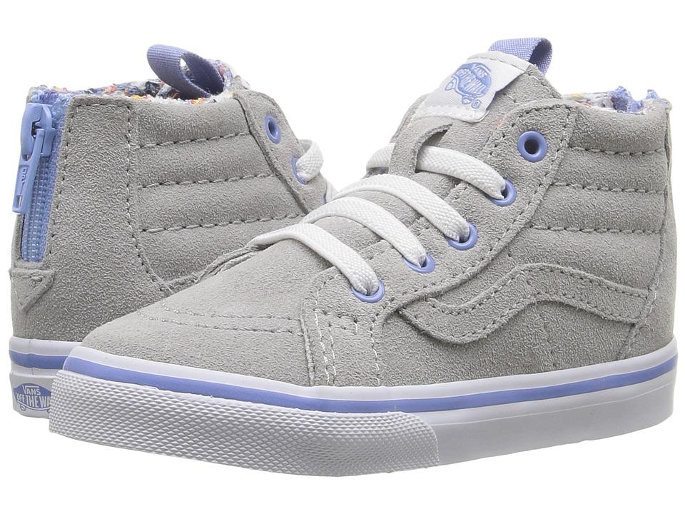 Vans Kids Sk8-Hi Zip (Toddler) ((MTE)Floral Pop/Gray Violet) Girls Shoes