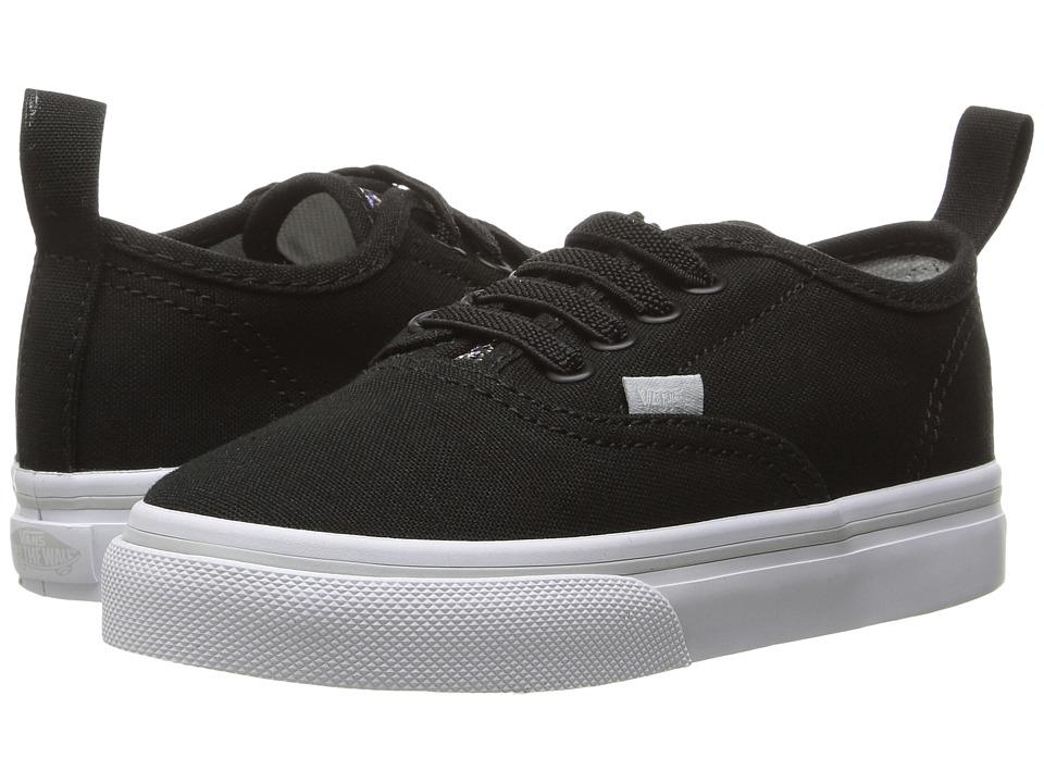 Vans Kids - Authentic V Lace (Toddler) ((Glitter Pop) Black) Girls Shoes