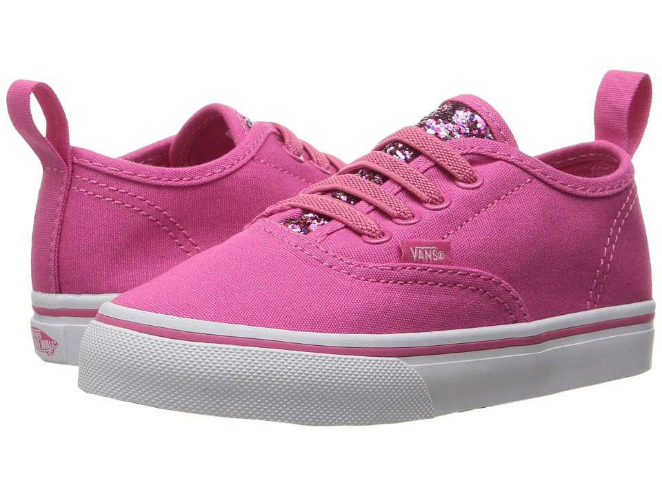 Vans Kids - Authentic V Lace (Toddler) ((Glitter Pop) Pink) Girls Shoes