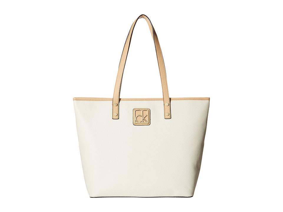 Calvin Klein - Key Item Monogram Tote (Almond/Nude) Tote Handbags
