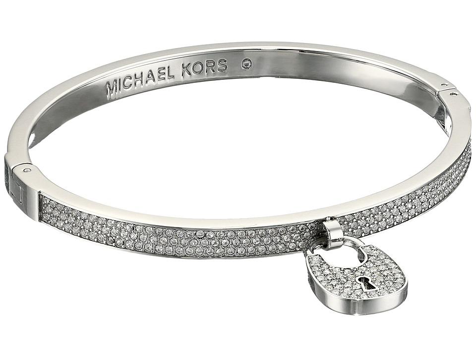 Michael Kors - Hinge Pave Padlock Bracelet (Silver) Bracelet