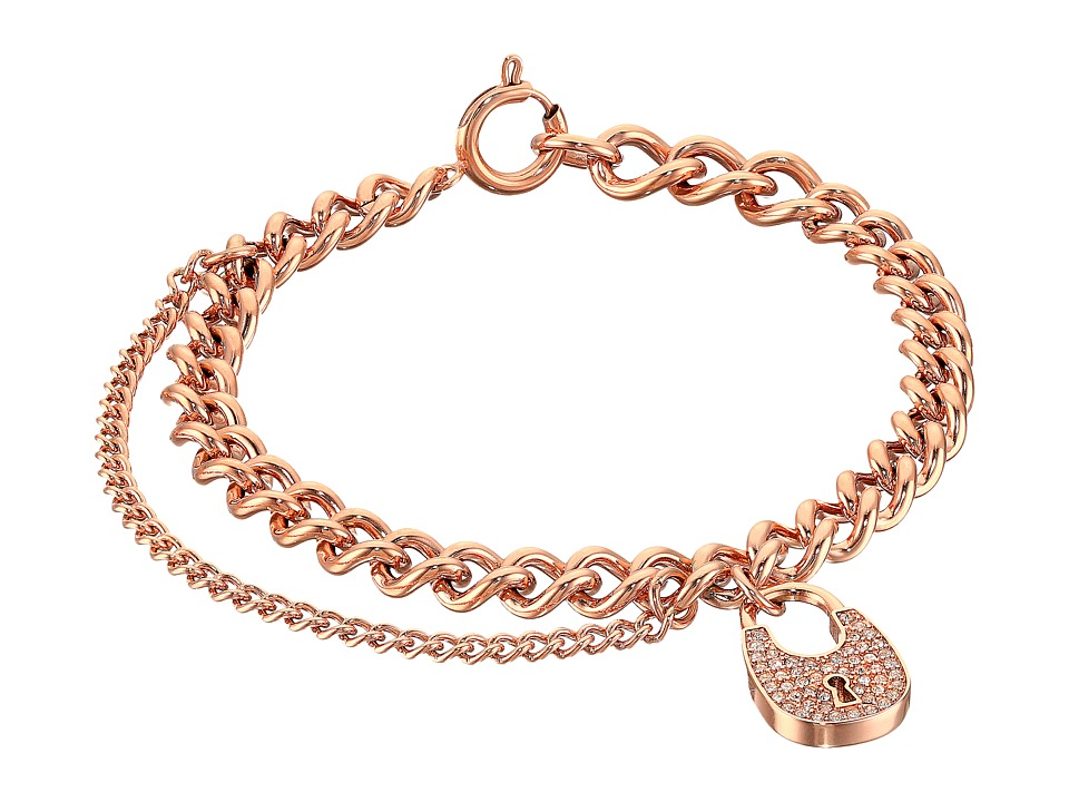 Michael Kors - Curb Padlock Bracelet (Rose Gold) Bracelet