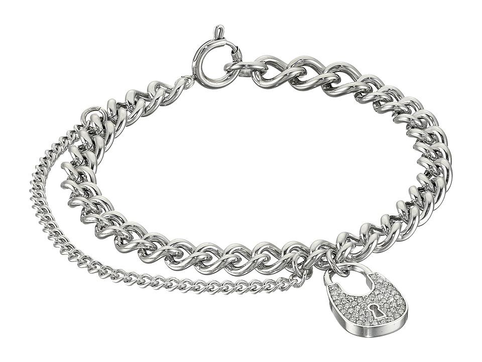 Michael Kors - Curb Padlock Bracelet (Silver) Bracelet