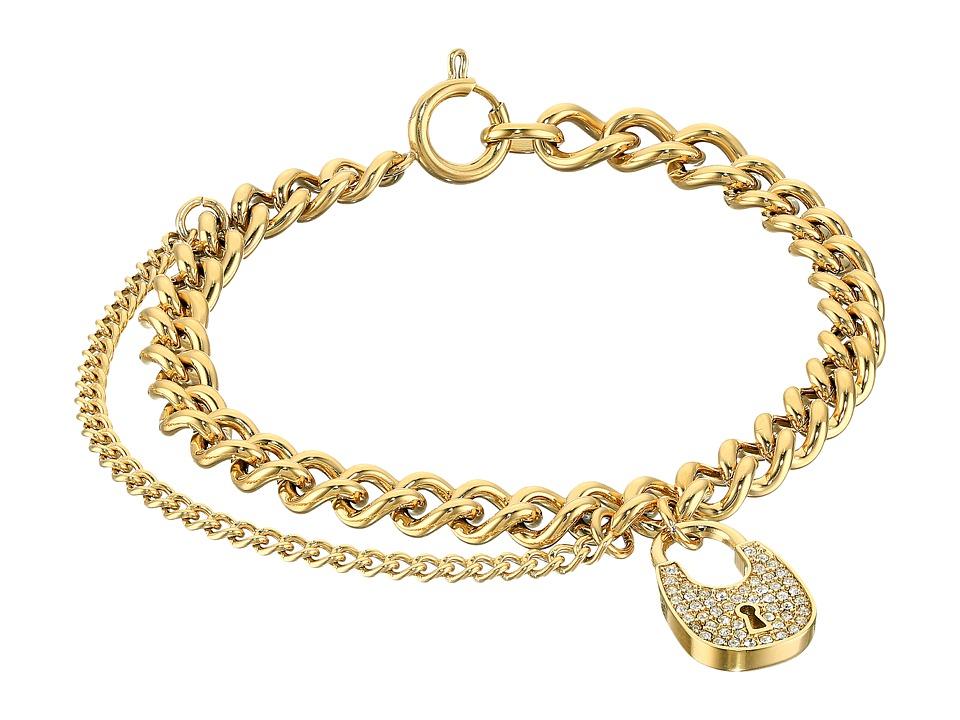Michael Kors - Curb Padlock Bracelet (Gold) Bracelet