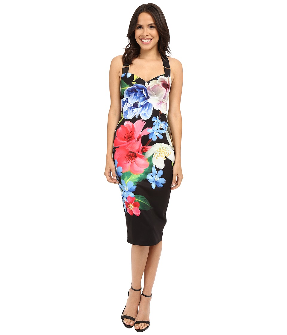 Ted Baker - Alexie Forget Me Not Midi Dress (Black) Women's Dress