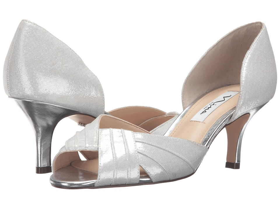 Nina - Cadine (Silver) Women's 1-2 inch heel Shoes