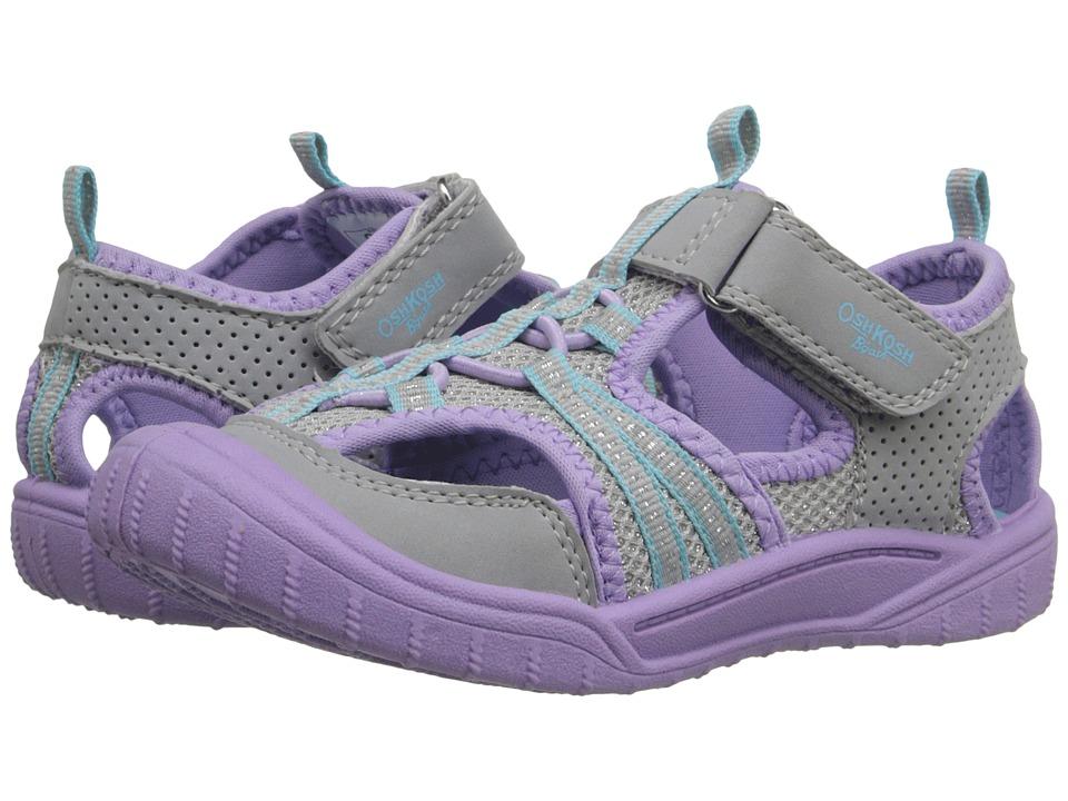 OshKosh - Jax2 (Toddler/Little Kid) (Silver/Purple) Girls Shoes