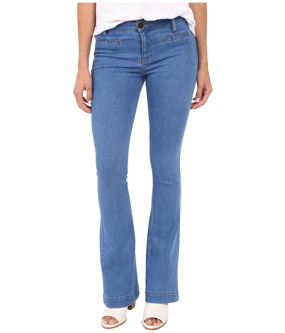 ETIENNE MARCEL - EM7317 Two-Pocket Flare (Blue Denim) Women's Jeans