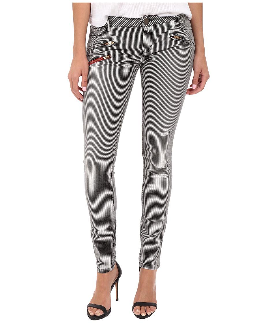 ETIENNE MARCEL - EM7034 3-Zip Stripes (Light Stripes) Women's Jeans