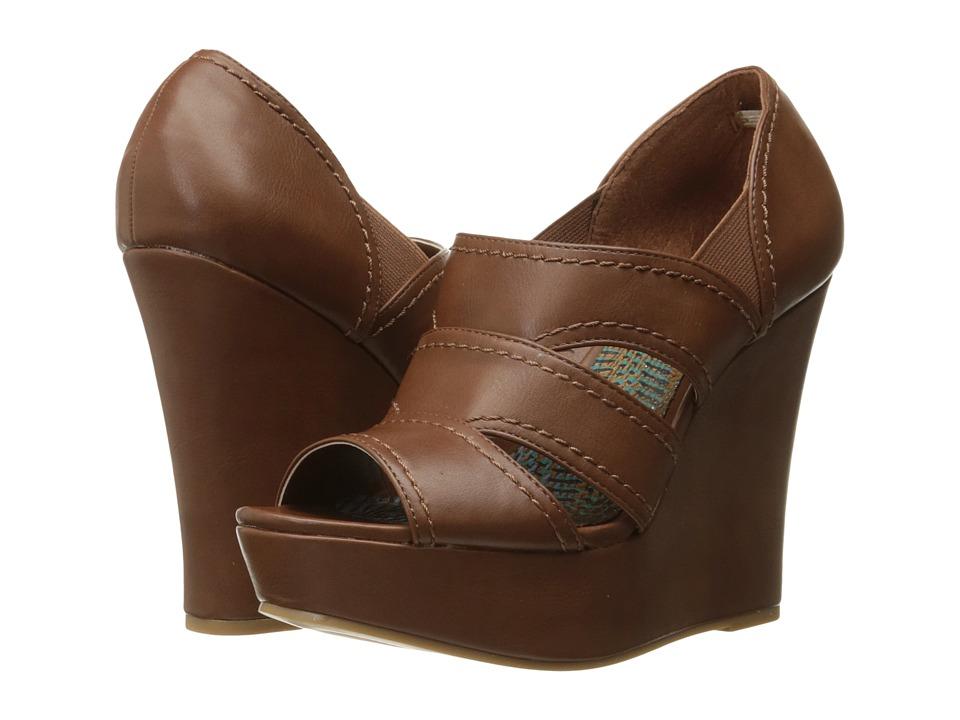 Madden Girl - Astoriia (Cognac Paris) Women's Wedge Shoes
