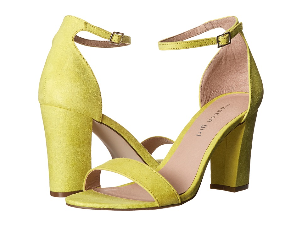 Madden Girl - Beella (Yellow Fabric) High Heels