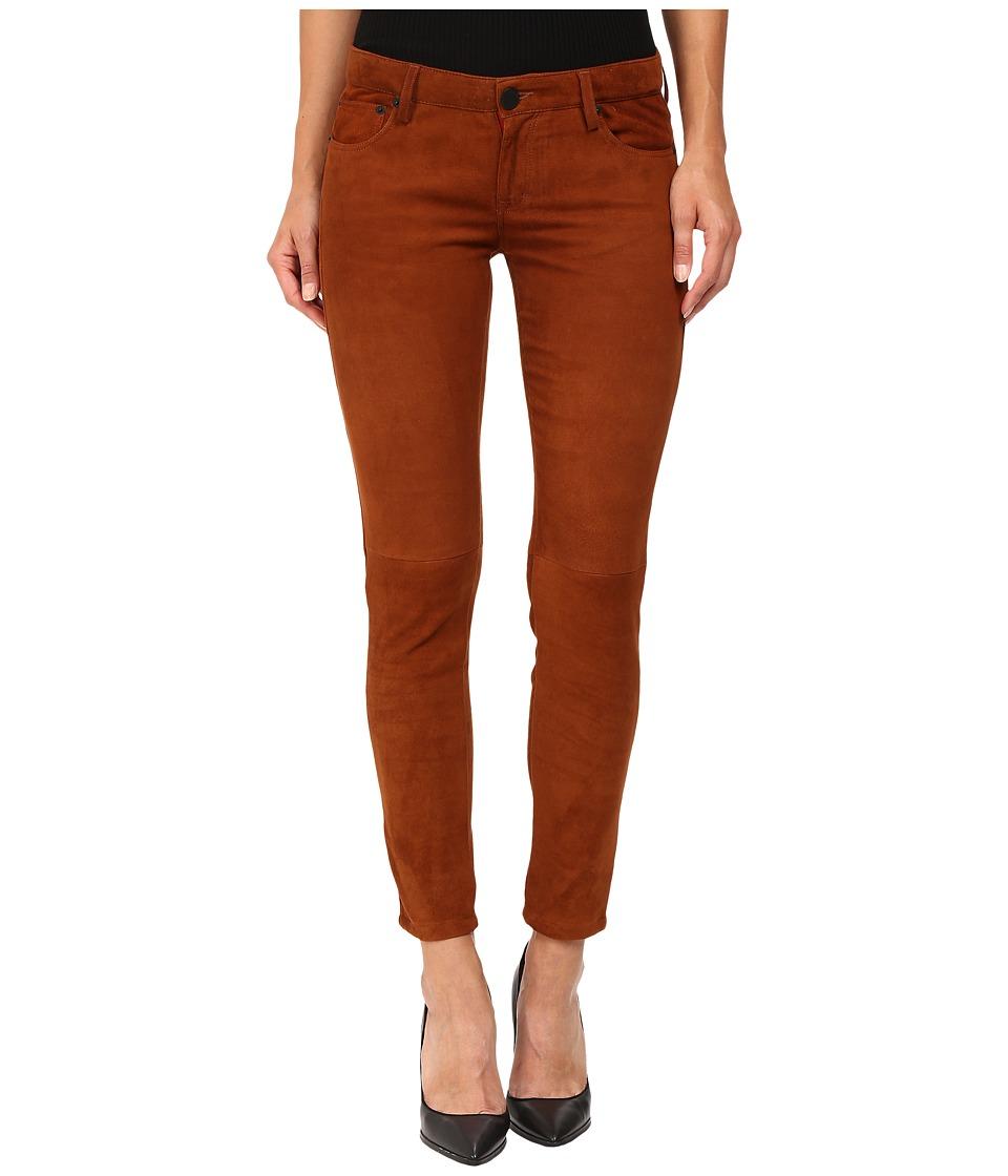 ETIENNE MARCEL - EM7012 SU Stretch Suede (Cognac) Women's Casual Pants