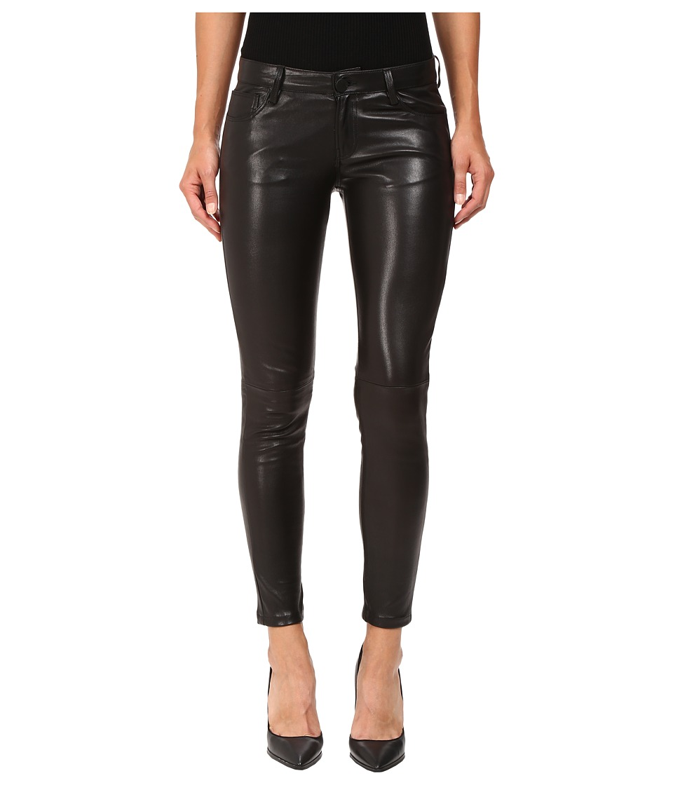 ETIENNE MARCEL - EM1807 Black Leather (Black) Women's Casual Pants
