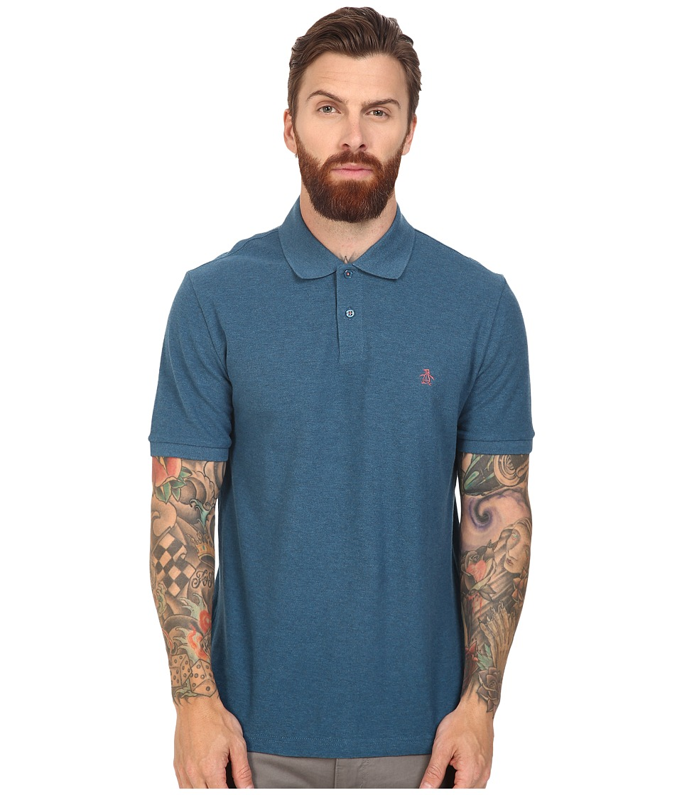 Original Penguin - Daddy-O Polo (Ink Blue) Men's Short Sleeve Pullover