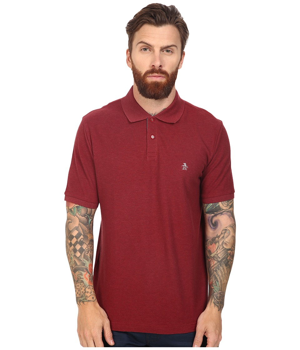 Original Penguin - Daddy-O Polo (Pomegranate) Men's Short Sleeve Pullover