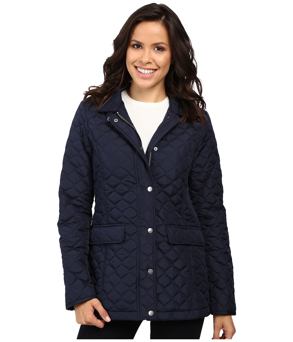 Tommy Hilfiger - Quilted Poly Cotton Jacket (Navy) Women's Coat