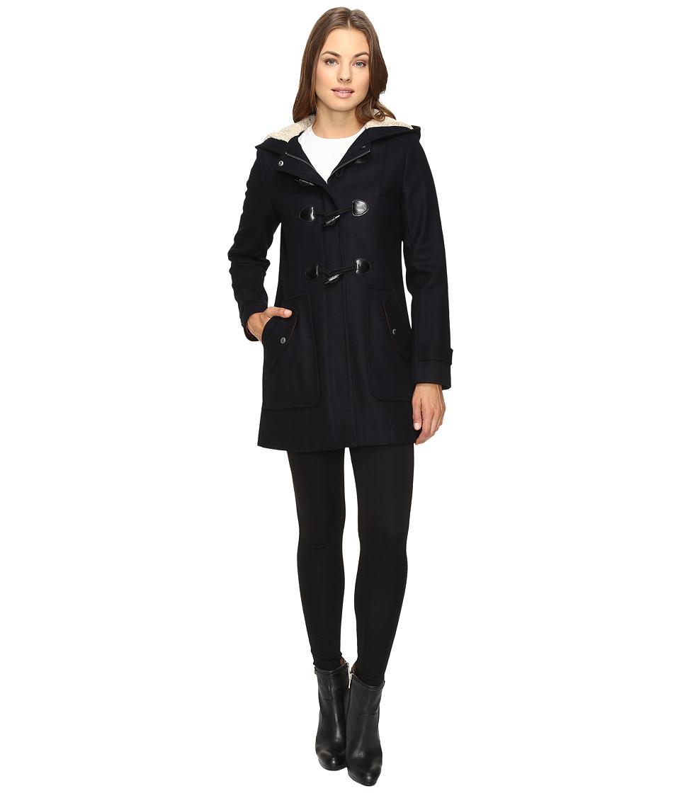 Tommy Hilfiger - Wool Toggle Coat (Navy) Women's Coat
