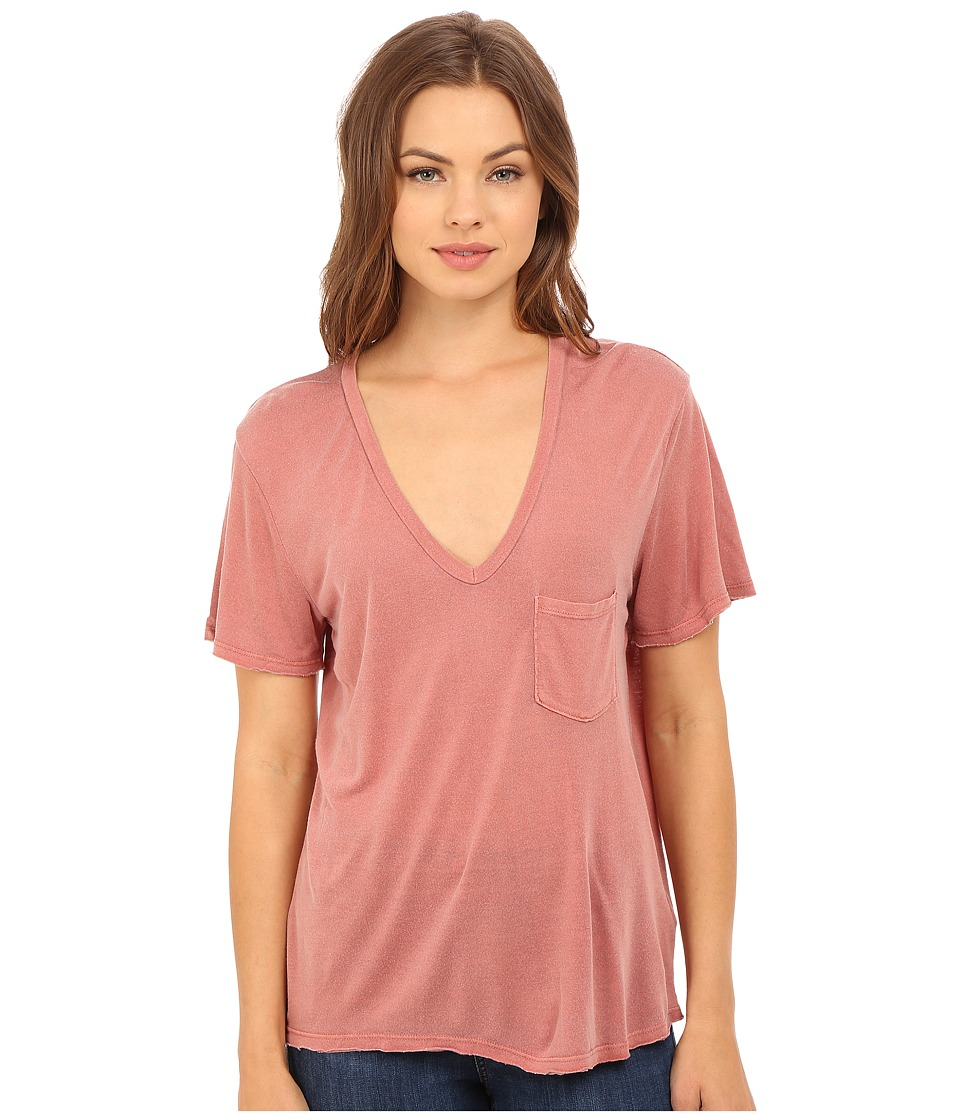 Project Social T - Rylee Pocket V (P. Vintage Mauve) Women's Short Sleeve Pullover
