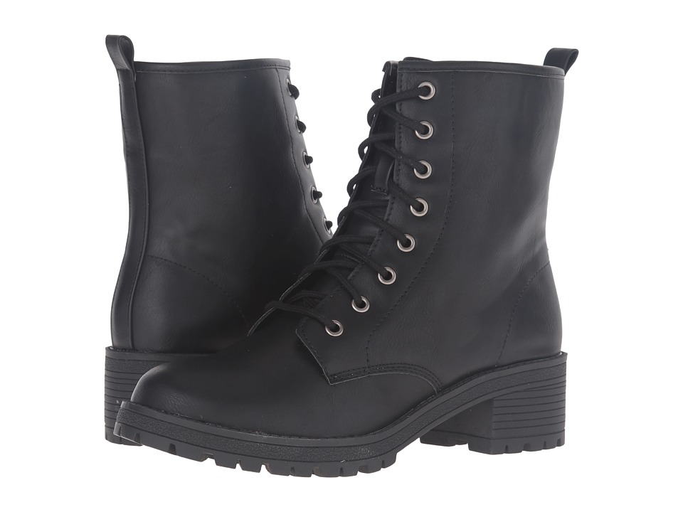 Madden Girl - Eloisee (Black Paris) Women's Lace-up Boots